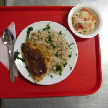 Lapcsánkás sertés karaj rizzsel