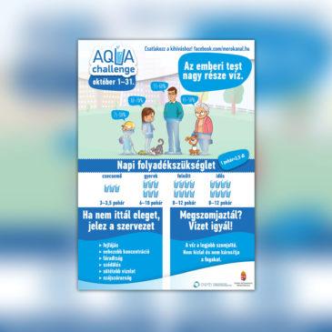 Fontos információk a vízivásról – itt az Aqua Challenge plakát!