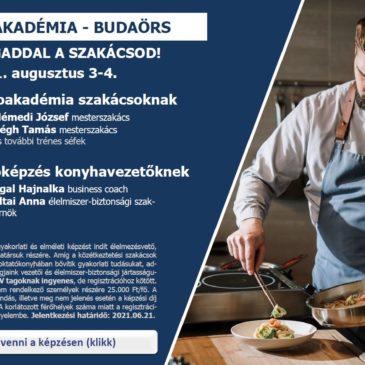 Gasztroakadémia szakácsoknak, vezetőképzés konyhavezetőknek – indul a KÖZSZÖV Akadémia!